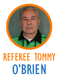 Referee Tommy O'Brien