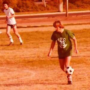 Coach Karl playing Soccer