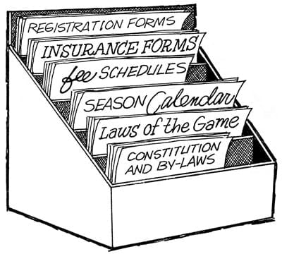 Illustration of a organizer box for documents