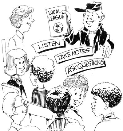 Illustration of parents talking to lead officers