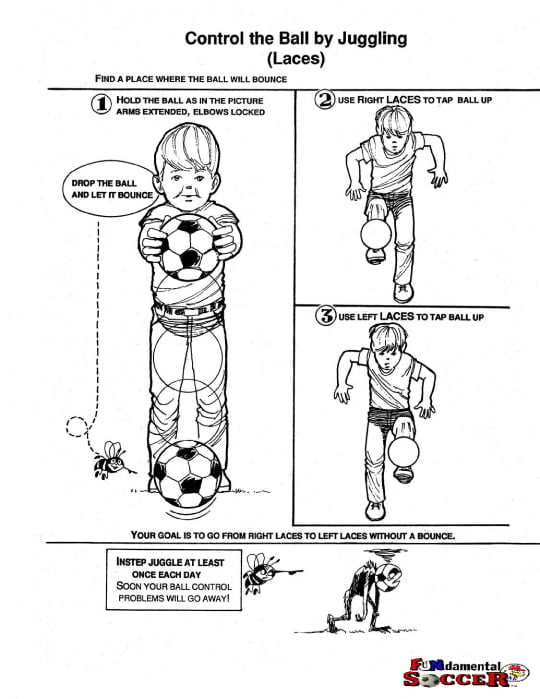 """Illustration """"Control the ball juggling (Laces)"""""""